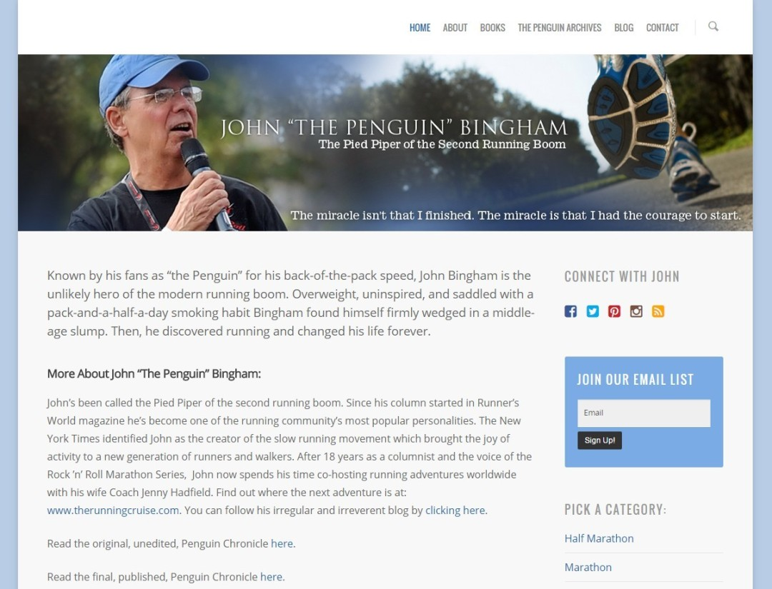 Pre-Made Theme Wordpress Website for John Penguin Bingham