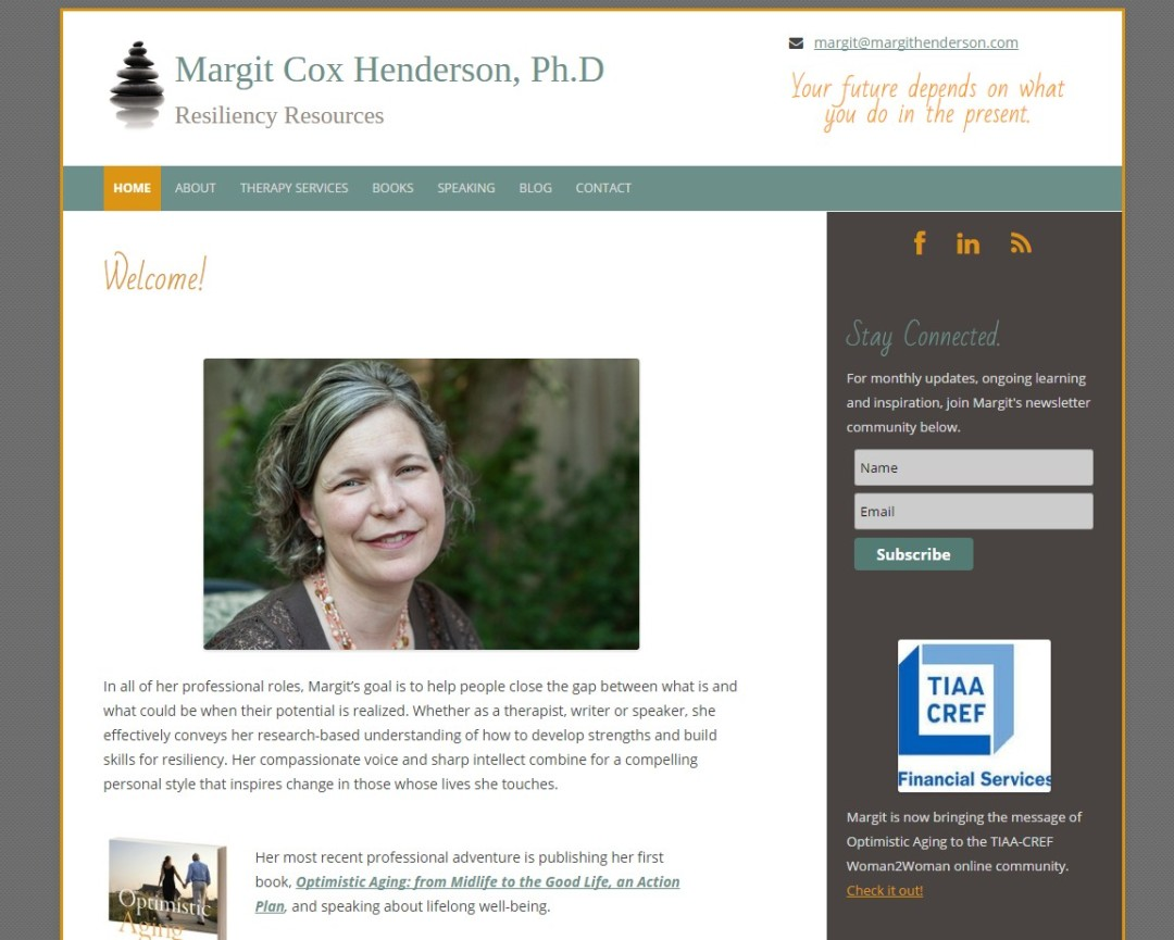 Pre-Made Theme Wordpress Website for Margit Henderson