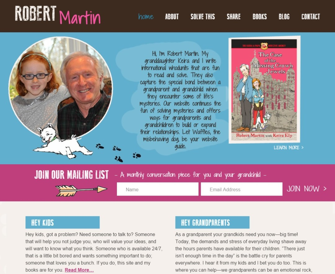 Custom Designed Wordpress Website for Robert Martin
