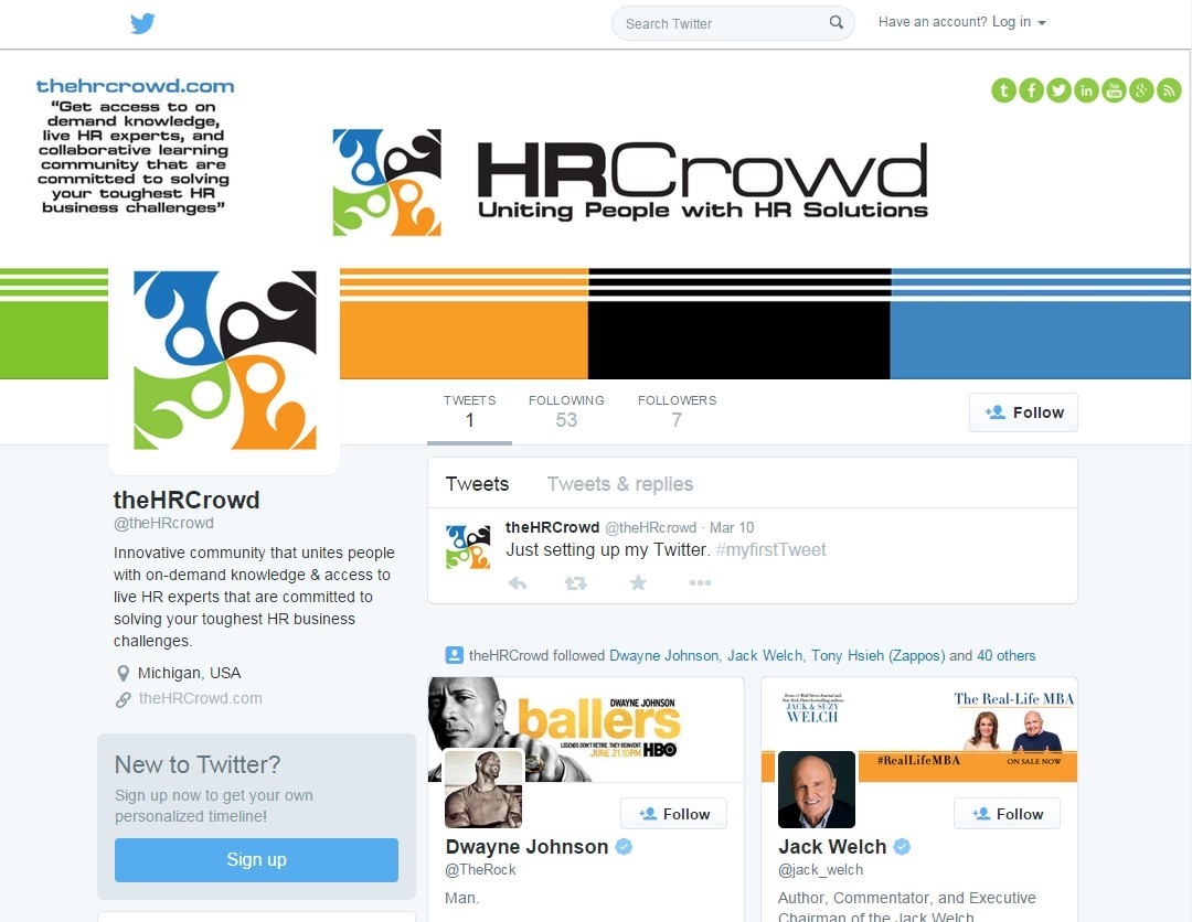 Twitter Cover Design for The HR Crowd