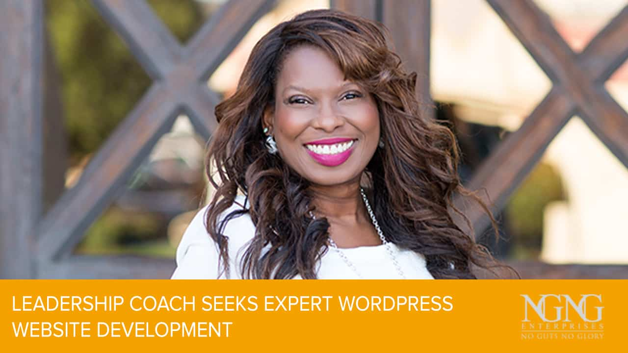 leadership coach seeks wordpress website