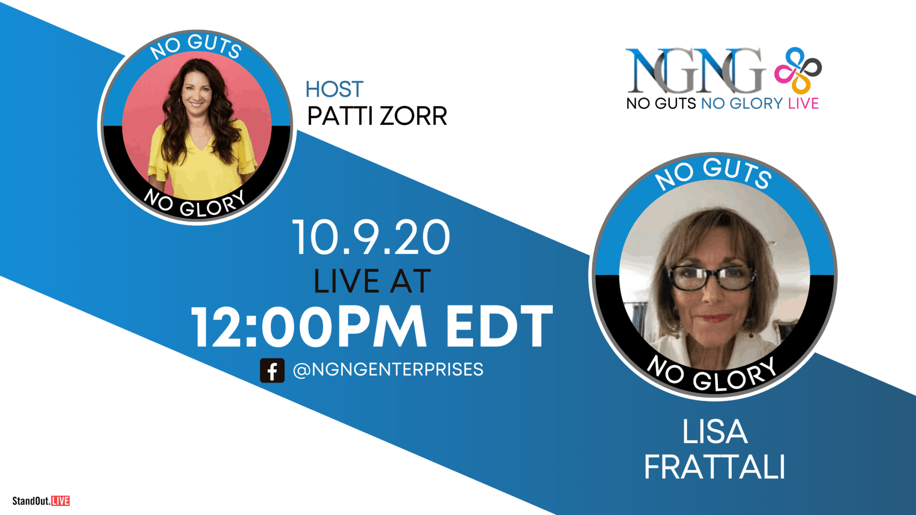 10.9-Lisa Frattali- NO GUTS NO GLORY LIVE (Twitter, YouTube, Blog)